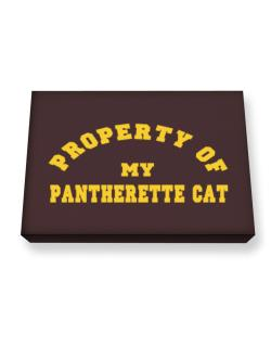 Property Of My Pantherette Canvas square