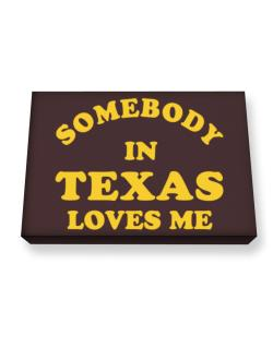 Somebody Texas Canvas square