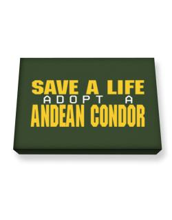 Save A Life, Adopt An Andean Condor Canvas square