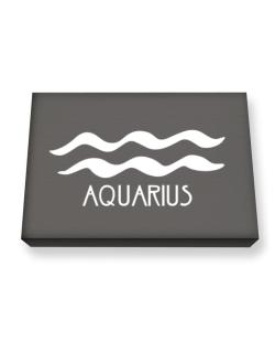 Aquarius - Symbol Canvas square