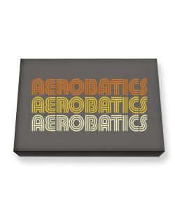 Aerobatics Retro Color Canvas square