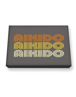 Aikido Retro Color Canvas square