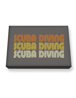 Scuba Diving Retro Color Canvas square
