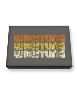 Wrestling Retro Color Canvas square