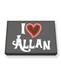I Love Allan Canvas square