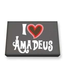 I Love Amadeus Canvas square