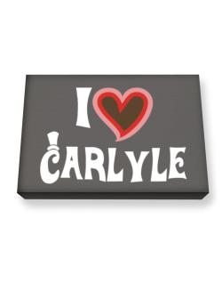 I Love Carlyle Canvas square