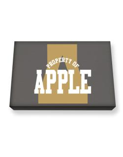 Property Of Apple Canvas square