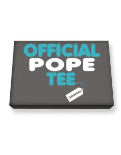 Official Pope Tee - Original Canvas square