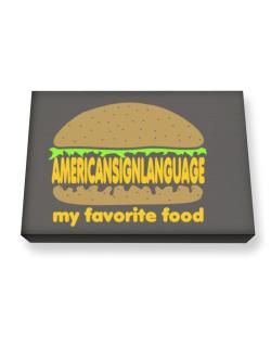 American Sign Language My Favorite Food Canvas square