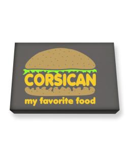 Corsican My Favorite Food Canvas square
