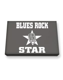 Blues Rock Star - Microphone Canvas square