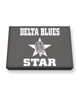 Delta Blues Star - Microphone Canvas square