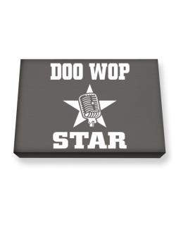 Doo Wop Star - Microphone Canvas square
