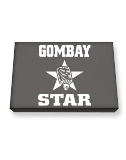 Gombay Star - Microphone Canvas square