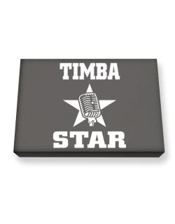 Timba Star - Microphone Canvas square