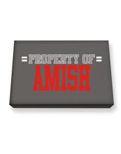 """ Property of Amish "" Canvas square"