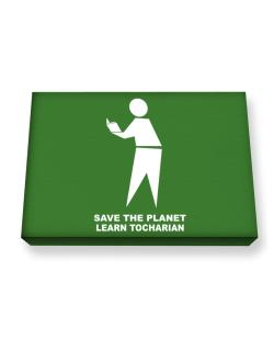 Save The Planet Learn Tocharian Canvas square