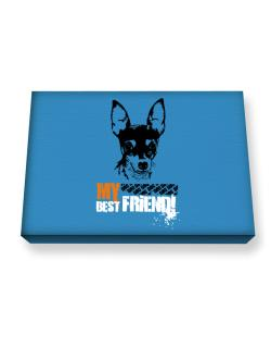 """ Fox Terrier MY BEST FRIEND - URBAN STYLE "" Canvas square"
