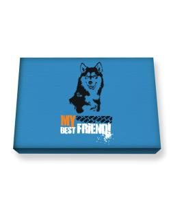 Siberian Husky My Best Friend - Urban Style Canvas square