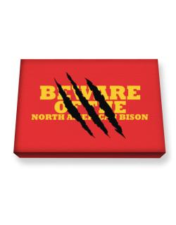 Beware Of The North American Bison Canvas square