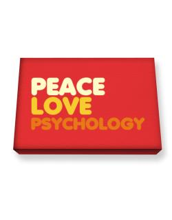 Peace Love Psychology Canvas square