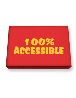 100% Accessible Canvas square