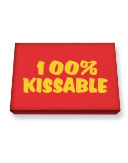 100% Kissable Canvas square