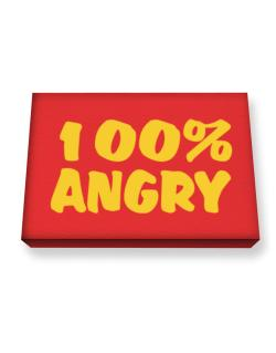 100% Angry Canvas square