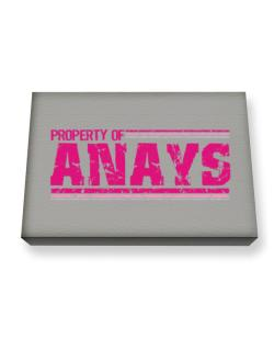 Property Of Anays - Vintage Canvas square