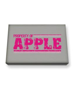 Property Of Apple - Vintage Canvas square