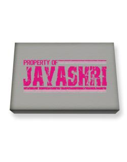 Property Of Jayashri - Vintage Canvas square
