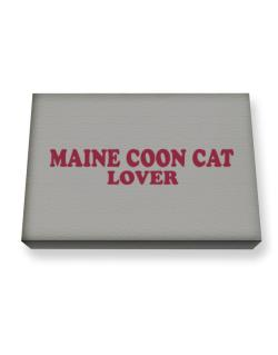 Maine Coon Lover Canvas square