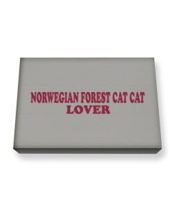 Norwegian Forest Cat Lover Canvas square