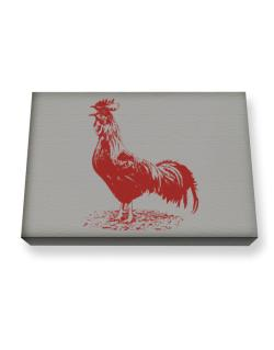 Rooster Canvas square