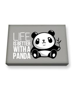 Life is better with a panda Canvas square