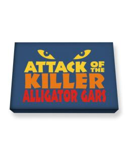 Attack Of The Killer Alligator Gars Canvas square