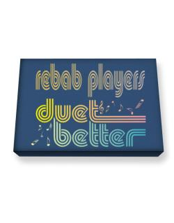 Rebab Players Duet Better Canvas square