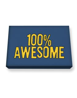 100% Awesome Canvas square