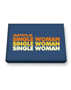 Apple Single Woman Canvas square