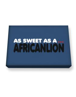 As Sweet As An African Lion Canvas square