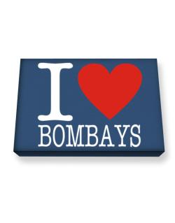 I Love Bombays Canvas square