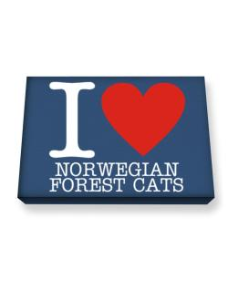 I Love Norwegian Forest Cats Canvas square