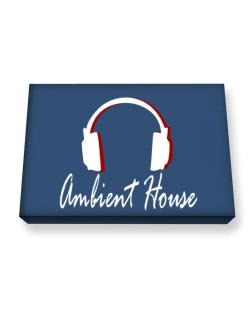 Ambient House - Headphones Canvas square