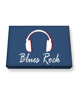 Blues Rock - Headphones Canvas square
