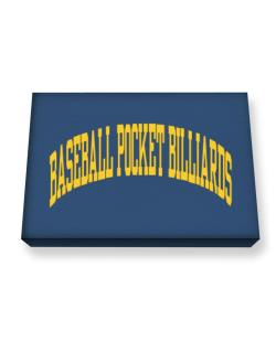 Baseball Pocket Billiards Athletic Dept Canvas square