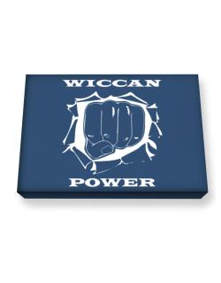 Wiccan Power Canvas square