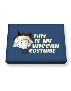 This Is My Wiccan Costume Canvas square