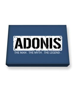 Adonis : The Man - The Myth - The Legend Canvas square