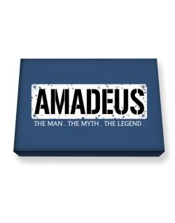 Amadeus : The Man - The Myth - The Legend Canvas square